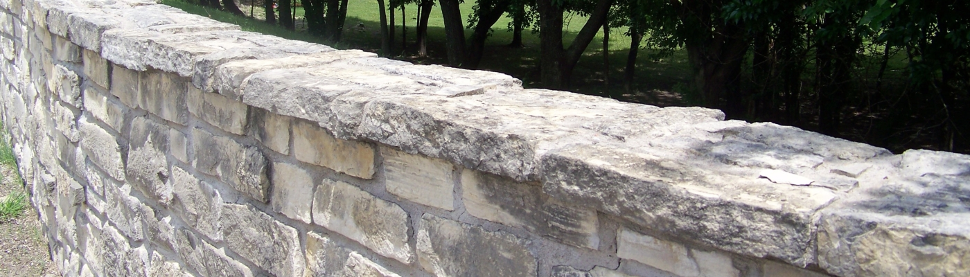 curved stone wall